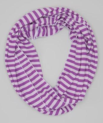 Purple Stripe Thermal Infinity Scarf