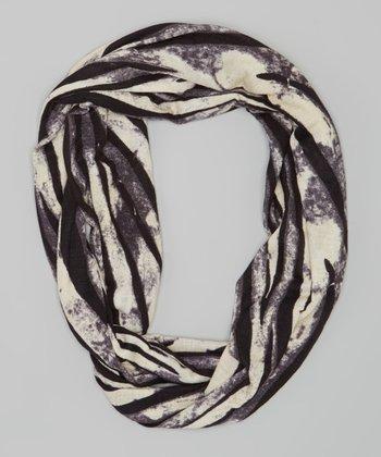 Black & Pearl Infinity Scarf