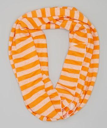 Orange Stripe Infinity Scarf