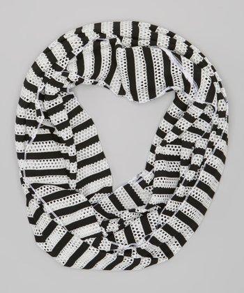 Black Stripe Infinity Scarf