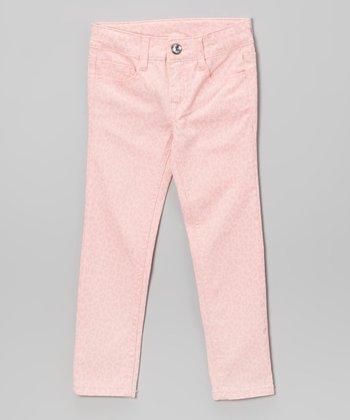 Freestyle Revolution Crystal Pink Leopard Delia Skinny Jeans - Infant, Toddler & Girls