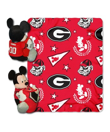 Georgia Bulldogs Mickey Mouse Pillow & Throw