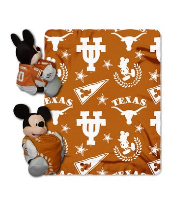 Texas Longhorns Mickey Mouse Pillow & Throw