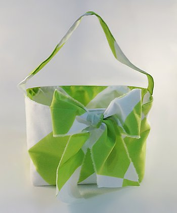Lime Stripe Bow Tote