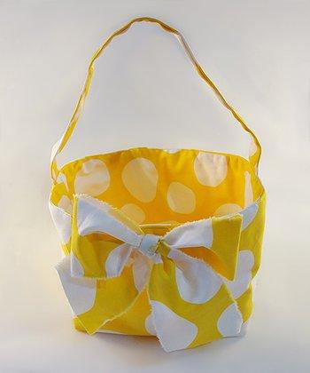 Yellow Polka Dot Bow Tote