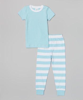 Blue & White Stripe Pajama Set - Infant & Toddler
