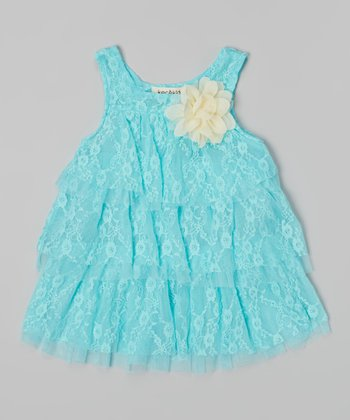 Turquoise Lace Dress - Infant & Toddler
