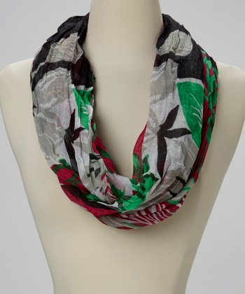 Fuchsia Abstract Infinity Scarf