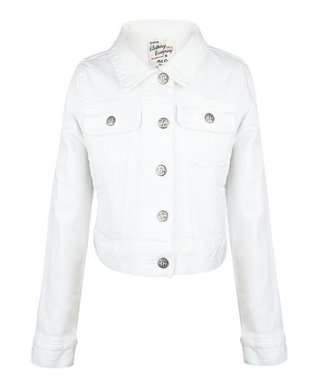 White Denim Jacket - Girls