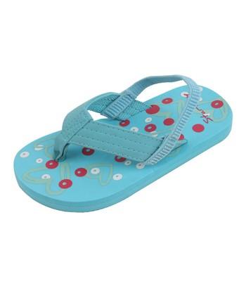Star Bay Blue Heart Flip-Flop