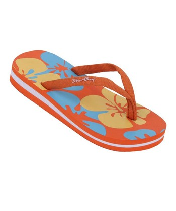 Star Bay Orange Hawaiian Flip-Flop