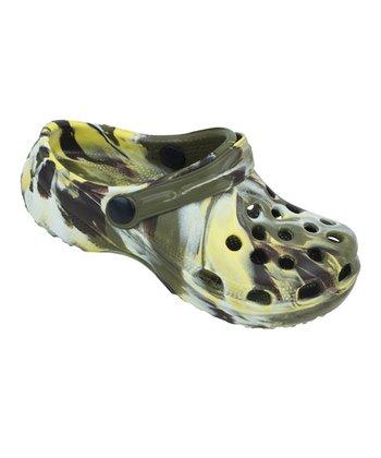 Aah Comfort Camo Green Marble Clog