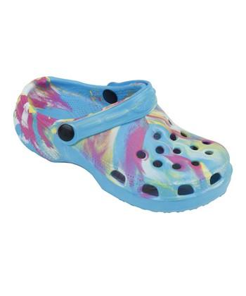 Aah Comfort Blue Marble Clog