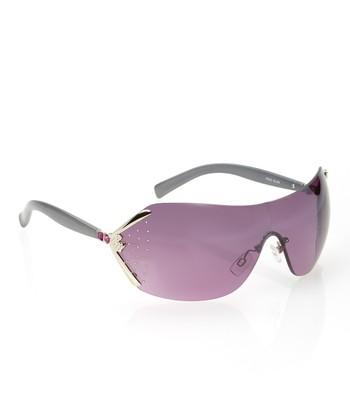 Rocawear Silver Metallic Rhinestone Hollywood Sunglasses