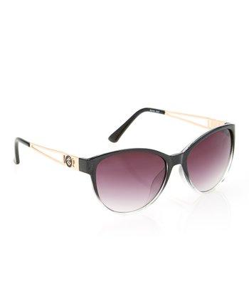 Black & Rose Gold Oversize Sunglasses
