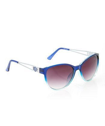 Rocawear Blue & Silver Oversize Sunglasses