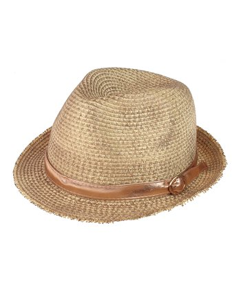 Brown Band Woven Fedora