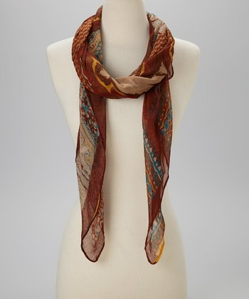 Brown Bohemian Scarf
