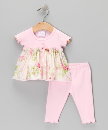 Too Sweet Rose Floral Tunic & Leggings - Infant