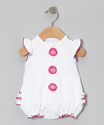 Too Sweet White & Magenta Bubble Bodysuit - Infant