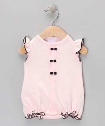 Too Sweet Pink & Black Ruffle Bodysuit - Infant