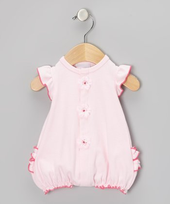 Too Sweet Pink & Berry Flower Ruffle Romper - Infant