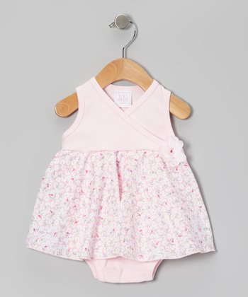 Too Sweet Rose Daisy Surplice Skirted Bodysuit - Infant