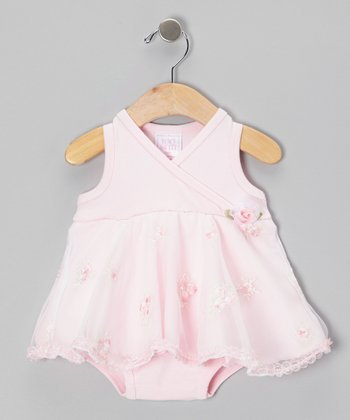 Too Sweet Pink Flower Swirl Dress - Infant