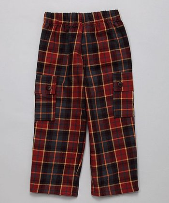 Brick Flannel Cargo Pants - Toddler & Boys