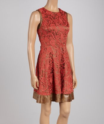 Canyon Lace A-Line Sleeveless Dress - Women