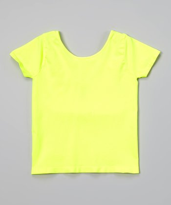 Malibu Sugar Neon Yellow Ballet Tee - Girls