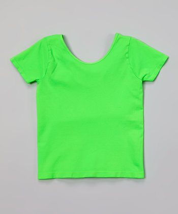 Malibu Sugar Neon Green Ballet Tee - Girls