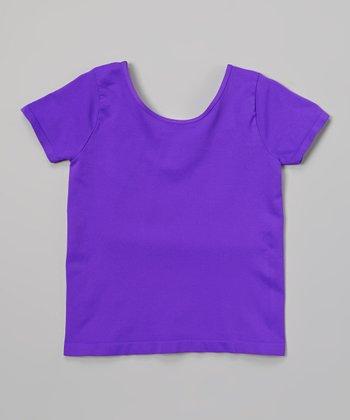 Malibu Sugar Neon Purple Ballet Tee - Girls
