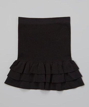 Malibu Sugar Black Ruffle Skirt - Girls