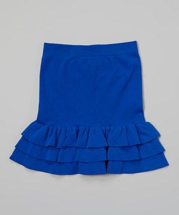 Malibu Sugar Cobalt Ruffle Skirt - Girls
