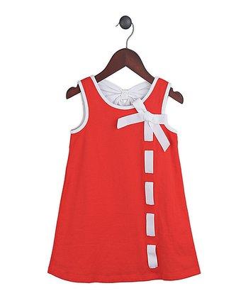 Gidget Loves Milo Red Ribbons Undone Dress - Toddler & Girls