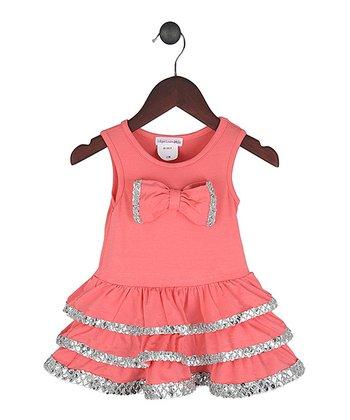 Gidget Loves Milo Coral Pop Goes the World Dress - Infant, Toddler & Girls