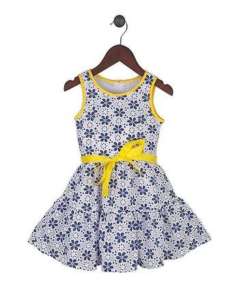 Gidget Loves Milo Blue & Yellow Fields of Joy Dress - Toddler & Girls