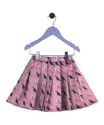 Halo Halo Girl Rose Bird Pleated Skirt - Toddler & Girls