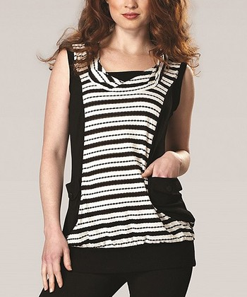 Black & White Stripe Pocket Tunic