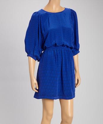 Pippa Royal & Blue Silk Dress