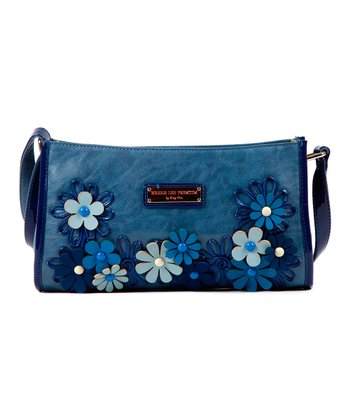 Blue Flower Liv Shoulder Bag