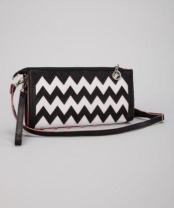 Black & White Zigzag Clutch