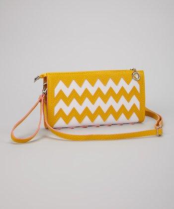 Yellow & White Zigzag Clutch