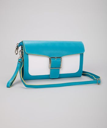 Turquoise Buckle Clutch
