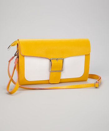 Yellow Buckle Clutch