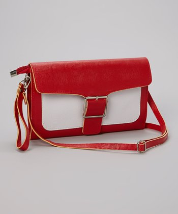 Red Buckle Clutch