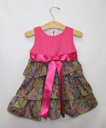 Pink Paisley Ruffle Dress - Infant, Toddler & Girls