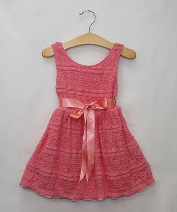 Coral Flower Lace Dress - Infant, Toddler & Girls
