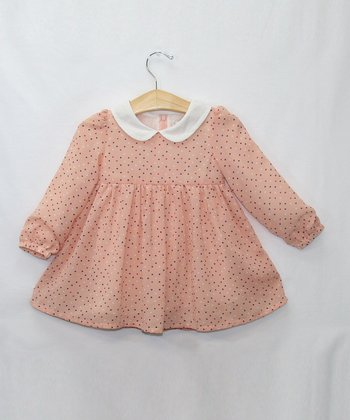 Pink Peter Pan Collar Polka Dot Dress - Toddler & Girls